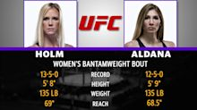 Mad Bets:UFCHolm vs. Aldana Betting Odds