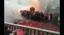 【有片】中國婚禮掟炮仗似戰場 煙霧迷漫外國網熱傳