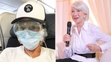 'Full marks': Helen Mirren's in-flight goggles and mask combo praised
