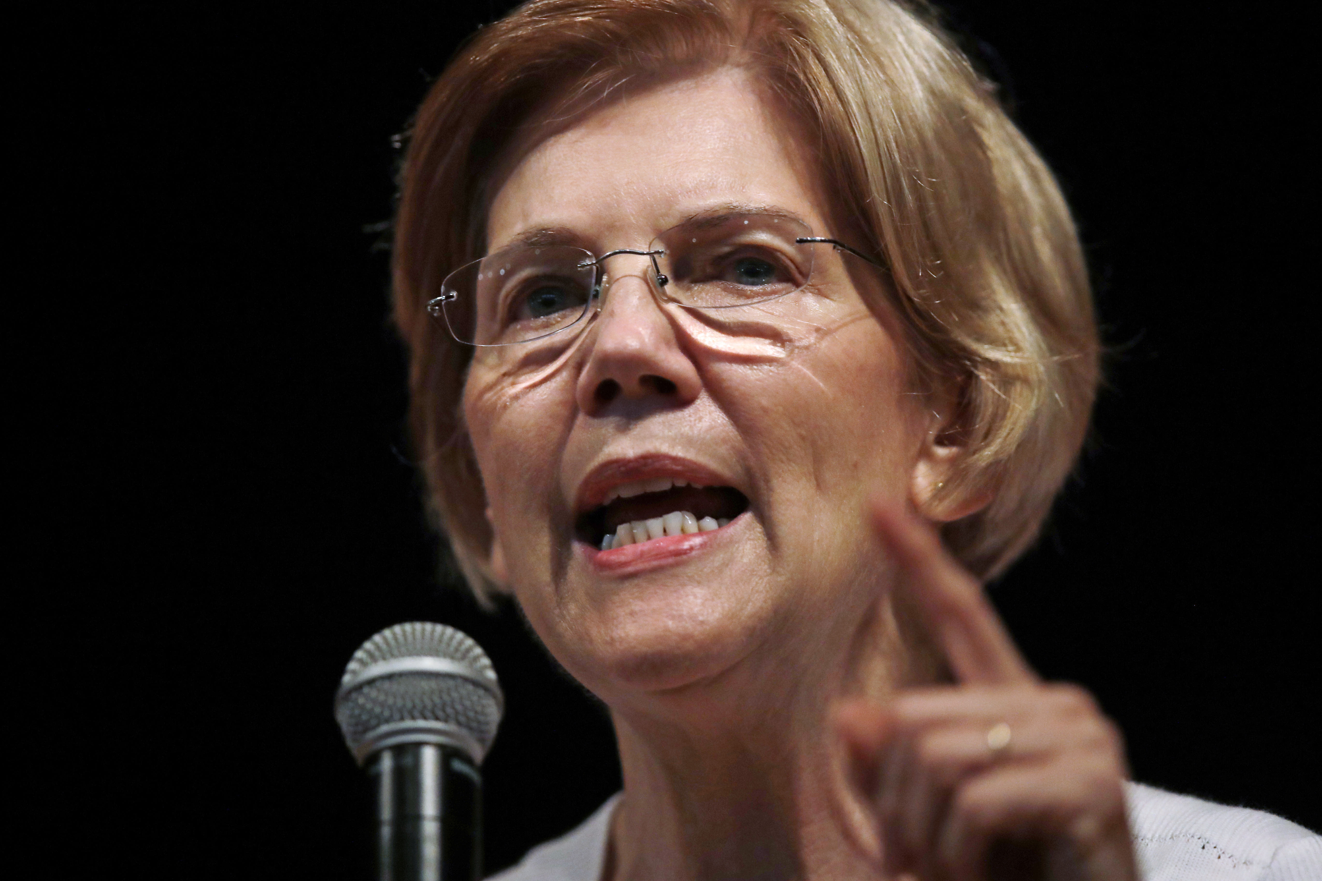 <p> FILE - In this Wednesday, Aug. 8, 2018, file photo, U.S. Sen. Elizabeth Warren, D-Mass., speaks during a town hall-style gathering in Woburn, Ma. A DNA analysis done on Sen. Warren provides strong evidence she has Native American heritage. She provided her test results to The Boston Globe for a story published Monday. (AP Photo/Charles Krupa, File) </p>
