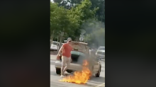 Police share Facebook video of man burning American flag at Walmart: 'This country hates you'