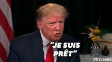 """Donald Trump se moque de ses adversaires démocrates: """"Quel que soit le vainqueur, je suis prêt"""""""