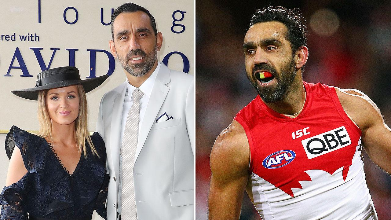 Adam Goodes and wife Natalie celebrate birth of first child