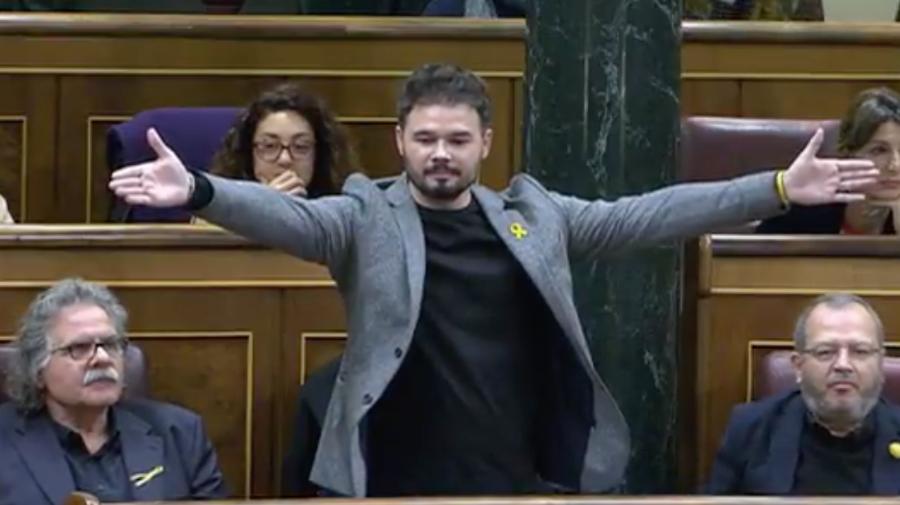 Bronca en el Congreso: Rufián acaba expulsado