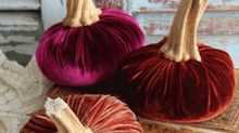 Velvet pumpkins are the on-trend home decoration you need for Halloween