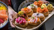 【銅鑼灣美食】最平$18/件爆餡腐皮壽司!泡菜三文魚+鰻魚玉子燒+黑松露炒蛋