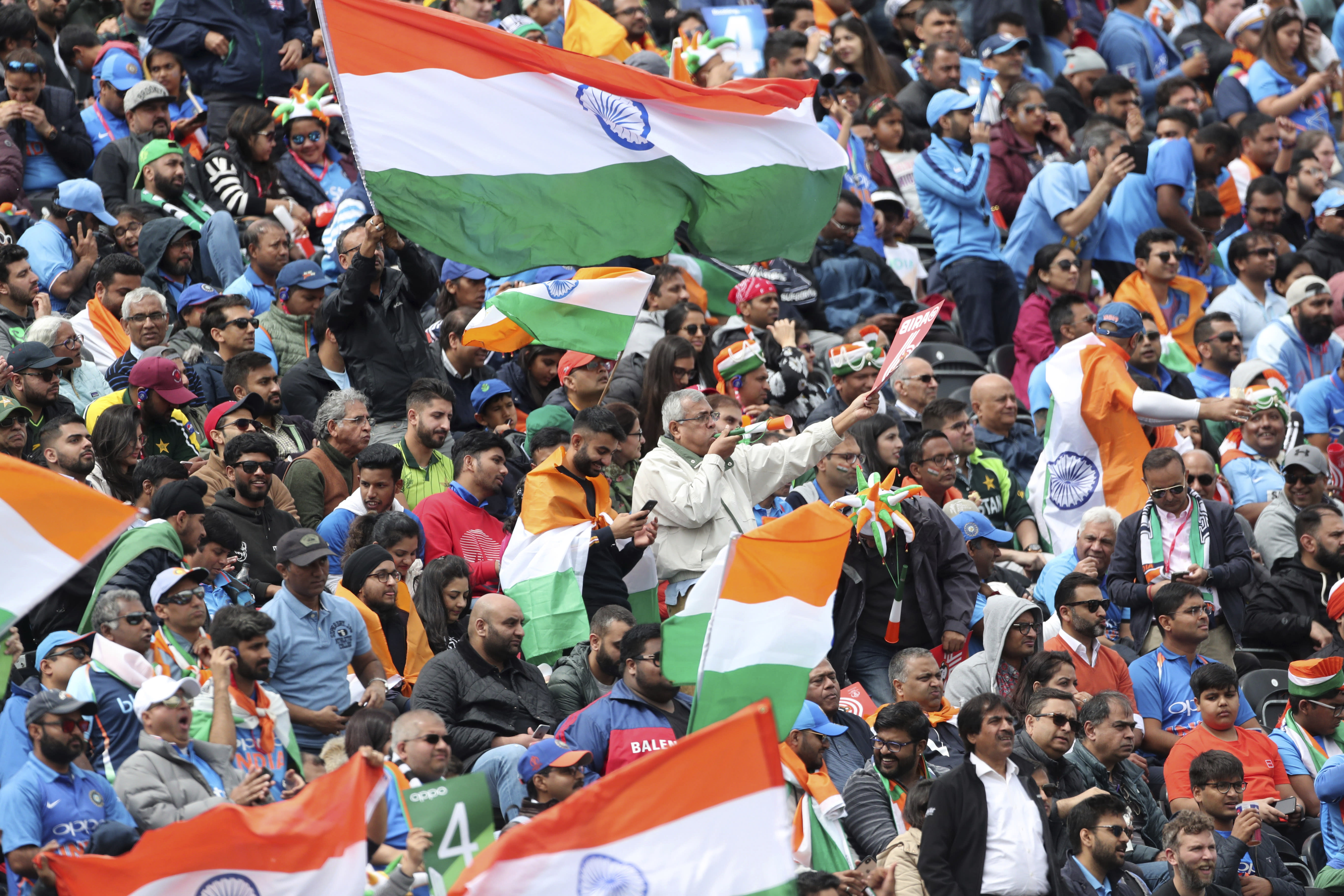The Latest: India improves to 7-0 vs Pakistan at World Cup