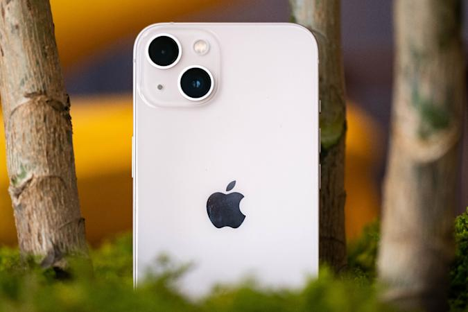 Apple iPhone 13 in Starlight color