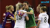 Huddles Around TV Sets Prove US Women's Soccer is Special in the World