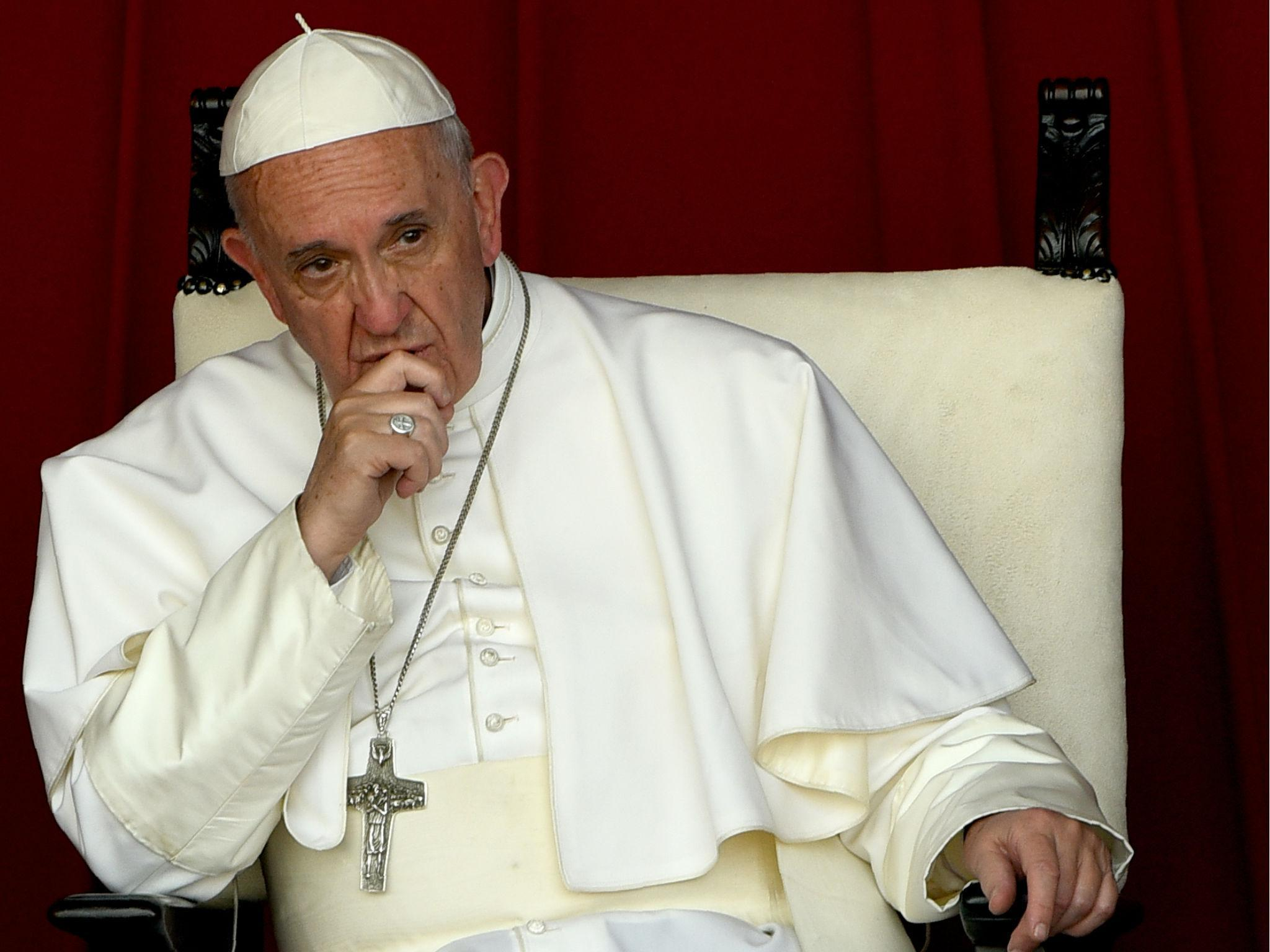 Pope criticises US military for using word 'mother' to describe MOAB bomb
