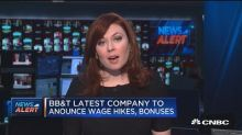 BB&T becomes latest company to announce wage hikes and bo...