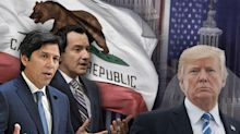 Confront Trump or try to work with him? California Dems are at the forefront of the debate.