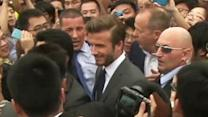 Raw: Several Injured As Chinese Fans Mob Beckham