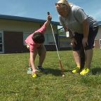 Kids use beeping eggs for visually impaired classmate