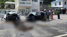快新聞/酒駕釀禍! 台11線100.5公里處兩車對撞毀車頭 一家3口受傷