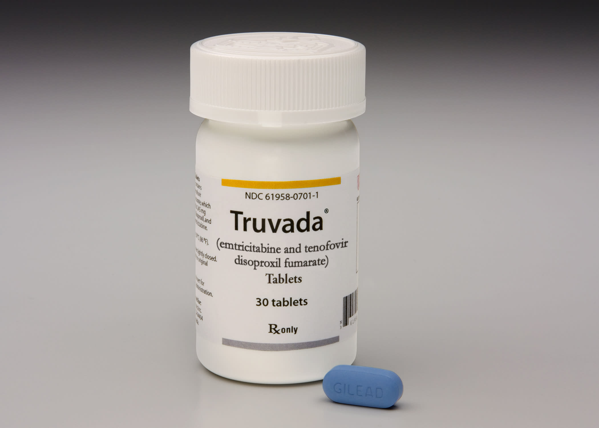 This photo provided by Gilead Sciences shows Truvada. A panel of federal health advisers votes today, Thursday, May 10, 2012, on whether to endorse the first drug shown to prevent HIV infection, potentially clearing the way for a landmark approval in the 30-year effort against the virus that causes AIDS. The Food and Drug Administration advisers will vote on whether Truvada should be approved as a preventative treatment for people who are at high risk of contracting HIV, such as gay and bisexual men. (AP Photo/Gilead Sciences)