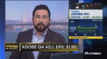 Adobe adjusts earnings outlook ahead of conference call