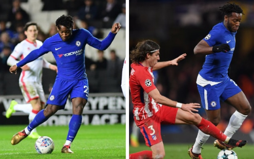 Michy Batshuayi played nine minutes against Atletico Madrid in Champions League on Tuesday night and then faced MK Dons in Checkatrade Trophy 24 hours laters - Getty Images