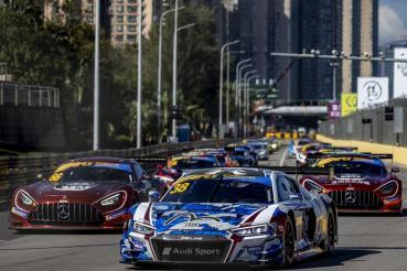 Audi R8 LMS在澳門著名的大獎賽中贏得澳門GT杯兩個席位