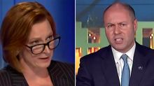 Budget 2020: Leigh Sales clashes with Josh Frydenberg over deficit