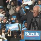 'I am back!': Bernie Sanders tells crowd after heart attack