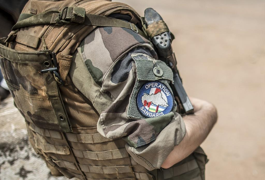 A French soldier on duty in Bangui in June 2014 (AFP Photo/MARCO LONGARI)