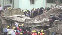 Raw: Building Collapses, Dozens Feared Trapped