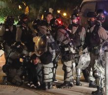 Hong Kong police say homemade bomb targeted officers