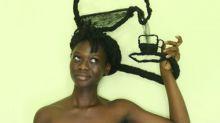 La bella africana que hace arte con su cabello