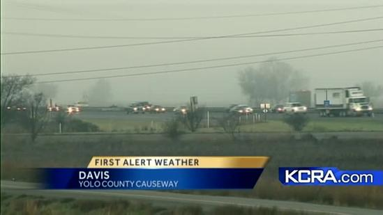 Fog blankets Stanislaus County