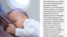 Anger over airline's response to breastfeeding mum