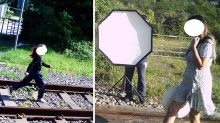 Wannabe influencers slammed over railway photoshoot: 'Fools!'