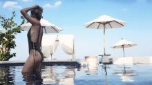 El bañador con escote de vértigo de Blanca Suárez en Tailandia