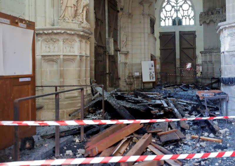 Nantes Cathedral fire investigators rearrest volunteer