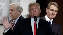 'He's toxic!': Trump goes after 2 GOP senators for Charlottesville criticism