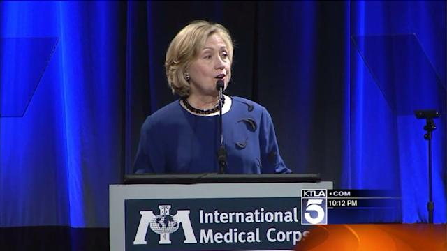 Hillary Clinton Receives `Global Champion Award` in Beverly Hills