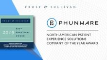 Phunware Multiscreen as a Service Platform Awarded 2019 Company of the Year by Frost & Sullivan