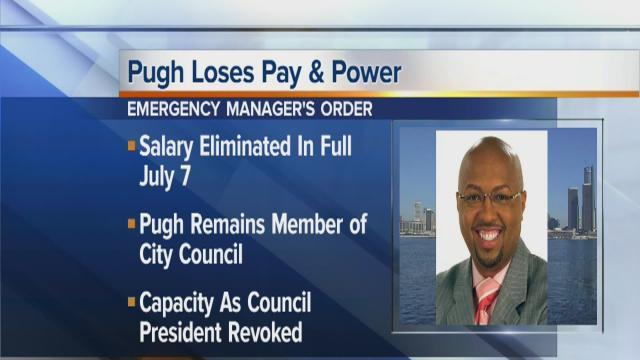 Pugh stripped of power and pay