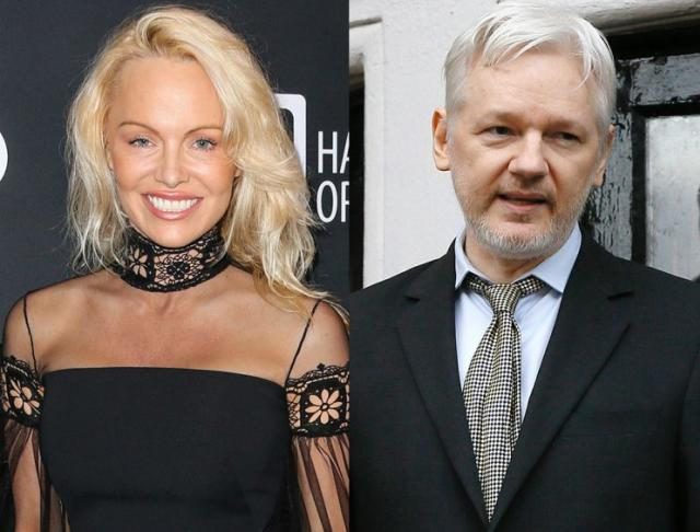 Pamela Anderson and Julian Assange are teaming up — in more ways than one. (Photo: AP Photo)