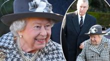 The Queen is all smiles as she steps out with Prince Andrew post-Megxit