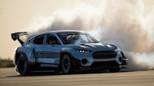 Ford created a one-off Mustang Mach-E that has 1,400 horsepower and can both drift and drag race. Take a closer look.