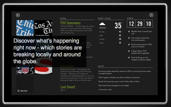 Tribune's Mosaic app brings elegant media aggregation to Windows 7 tablets, soon to Windows Phone 7