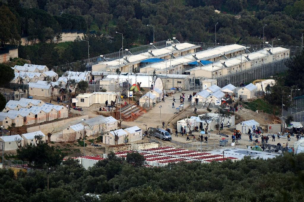 """MSF says it has closed """"all activities"""" linked to its operation at the Moria camp on Lesbos (AFP Photo/)"""