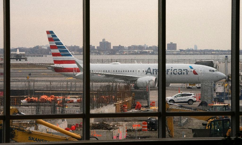 An American Airlines 737 Max sits at the gate at LaGuardia airport on March 13, 2019 in New York (AFP Photo/Don Emmert)