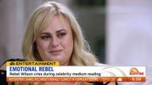 Rebel Wilson cries during medium reading