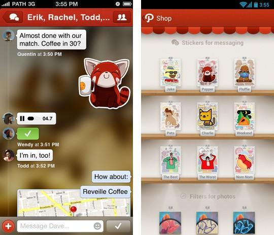 Path 3 adds private messaging and stickers, much like your 5th grade binder
