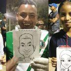Artist's Portraits Show Migrant Caravan's Hope, Joy: 'These Are Regular People'