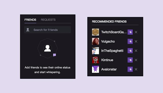 Twitch starts rolling out access to its 'Friends' feature