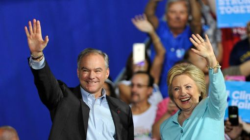 Tim Kaine wows crowds on day one as Clinton running mate