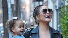 Chrissy Teigen's Daughter Reacts to Her Baby Bump